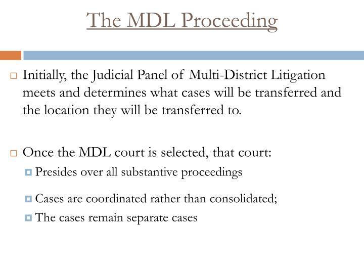 The MDL Proceeding