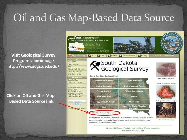 Oil and Gas Map-Based Data Source