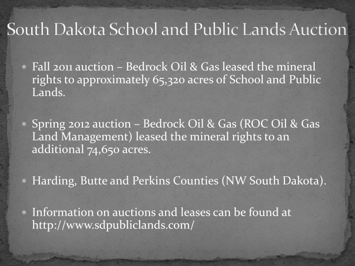 South Dakota School and Public Lands Auction