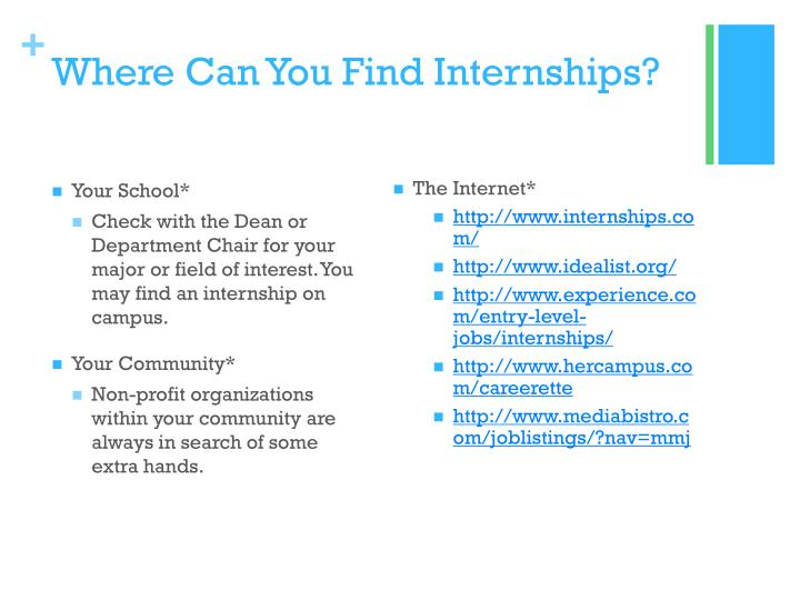 Where Can You Find Internships?