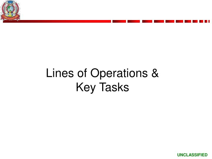 Lines of Operations &