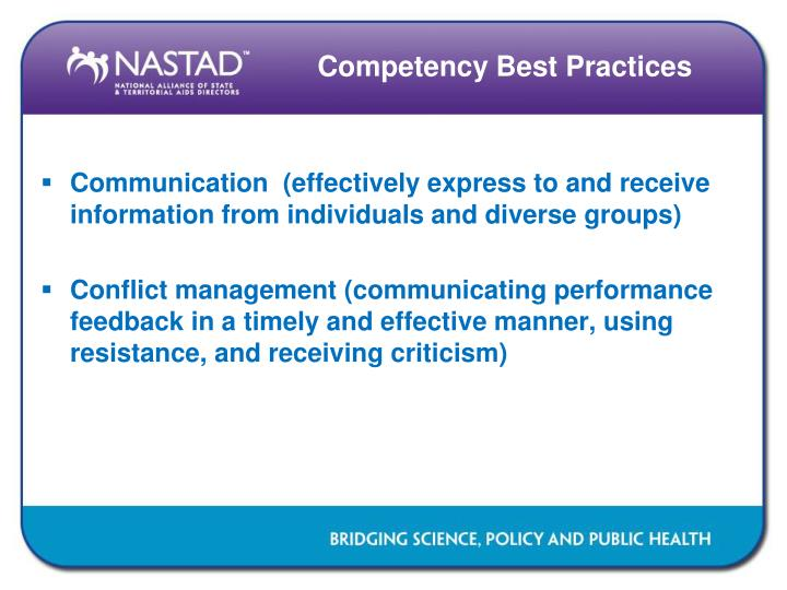 Competency Best Practices