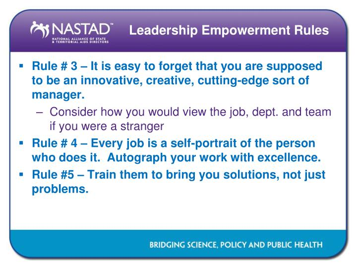 Leadership Empowerment Rules
