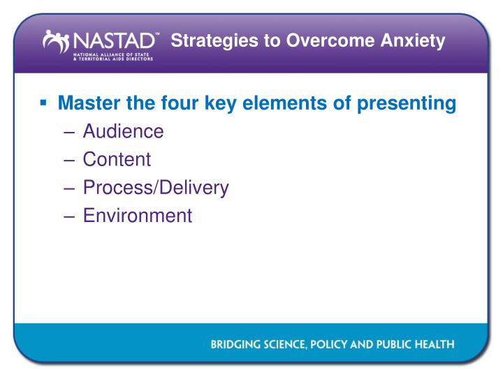 Master the four key elements of presenting