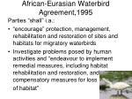 african eurasian waterbird agreement 1995