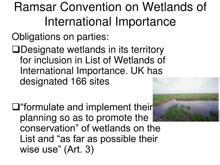 Ramsar Convention on Wetlands of International Importance