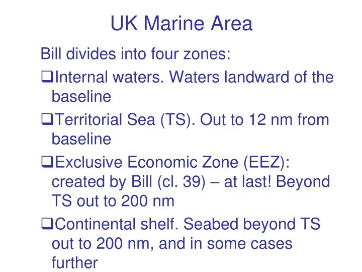 UK Marine Area