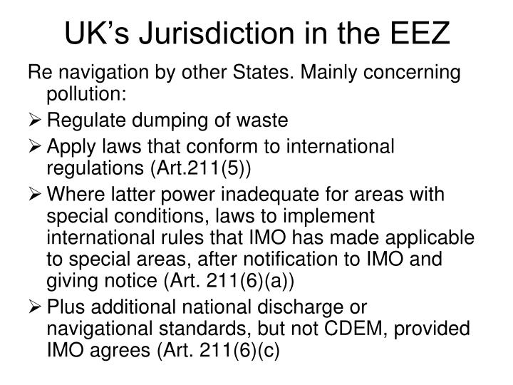 UK's Jurisdiction in the EEZ