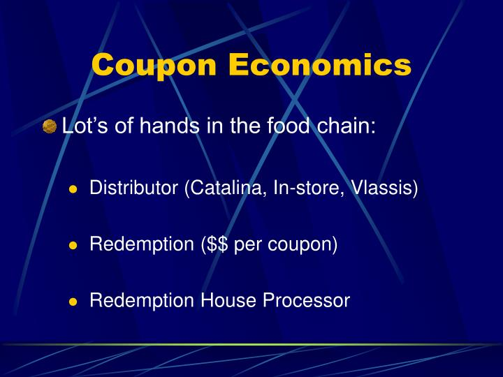 Coupon Economics