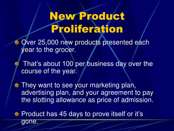 New Product Proliferation