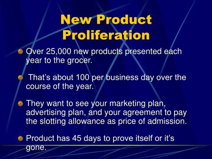 New Product Proliferation