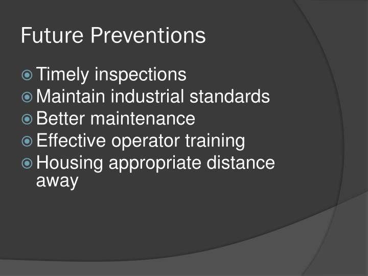 Future Preventions