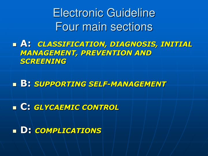 Electronic Guideline