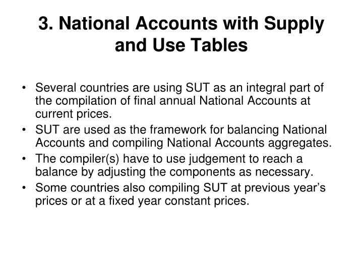 3 national accounts with supply and use tables