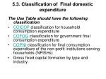 5 3 classification of final domestic expenditure