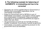 8 the following example for balancing of garments is misleading and has to be corrected