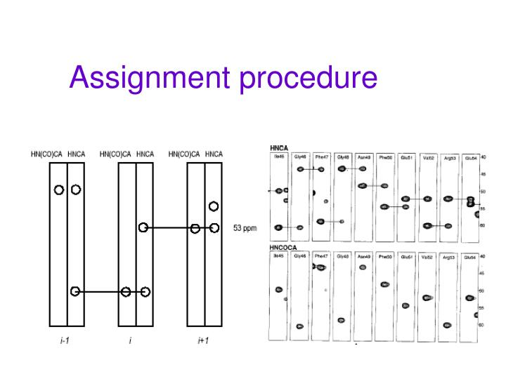 Assignment procedure