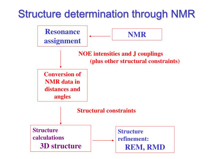 Structure determination through NMR