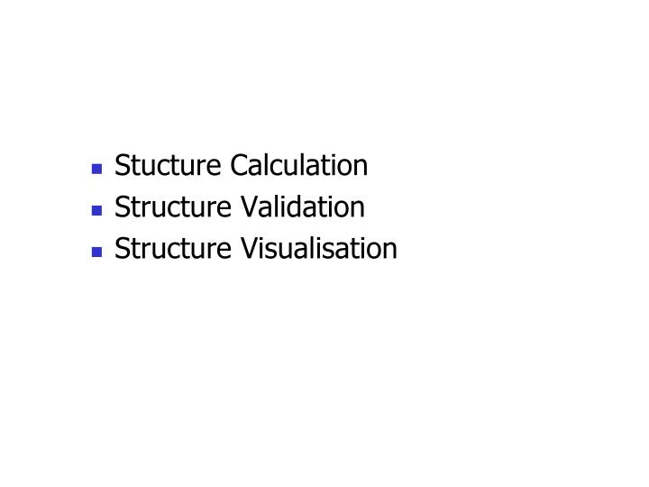 Stucture Calculation