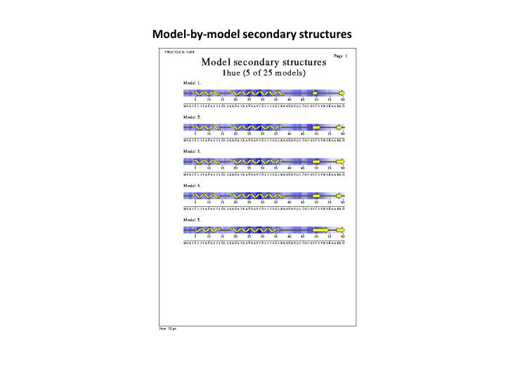 Model-by-model secondary structures