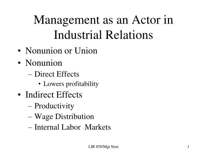 union-management paper essay Question union management & organization 6-8 pages assignment 1: union management and organization due week 4 and worth 200 points write a six to eight (6-8) page paper in which you: summarize the historical and legal framework which provides the foundations for the american system of labor / management relations.