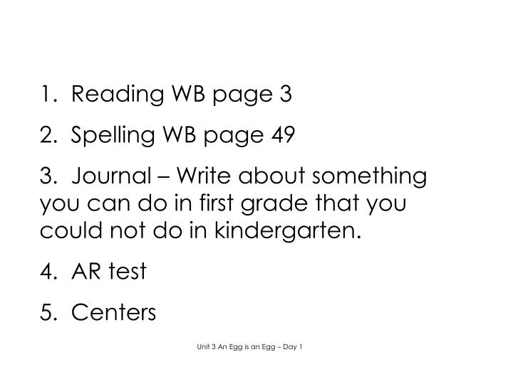 1.  Reading WB page 3