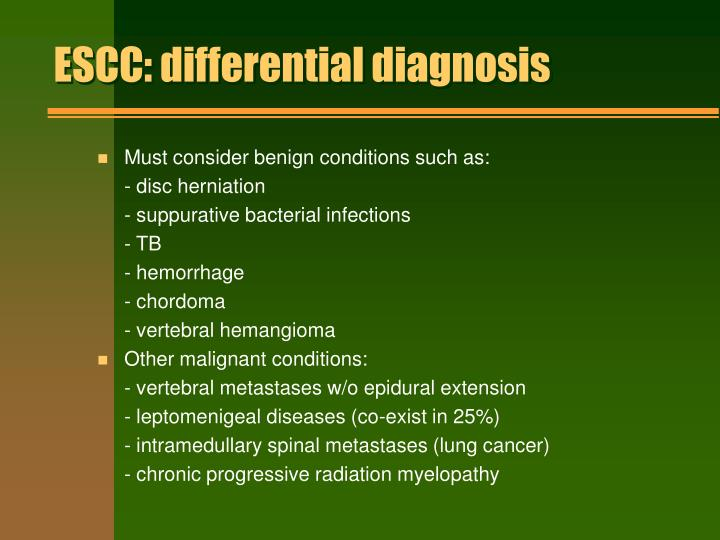 ESCC: differential diagnosis