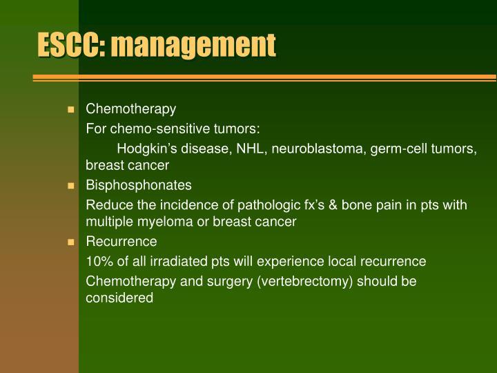 ESCC: management