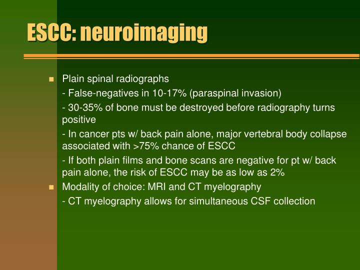 ESCC: neuroimaging