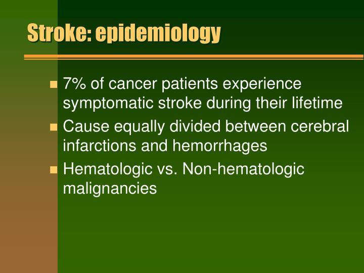 Stroke: epidemiology