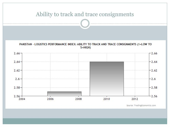 Ability to track and trace consignments