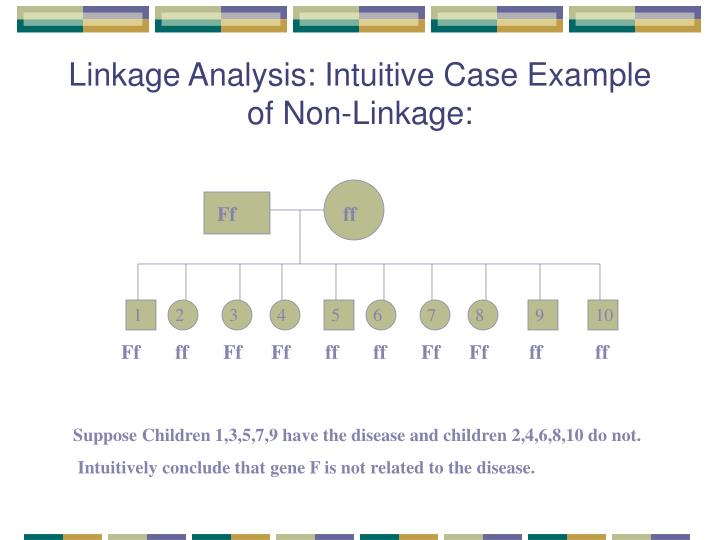 Linkage Analysis: Intuitive Case Example of Non-Linkage: