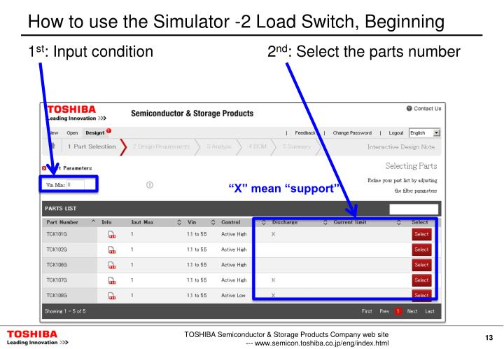 How to use the Simulator -2 Load Switch, Beginning