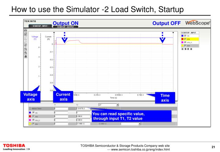 How to use the Simulator -2 Load Switch, Startup