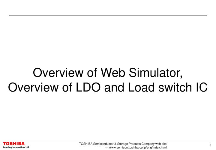 Overview of Web Simulator,