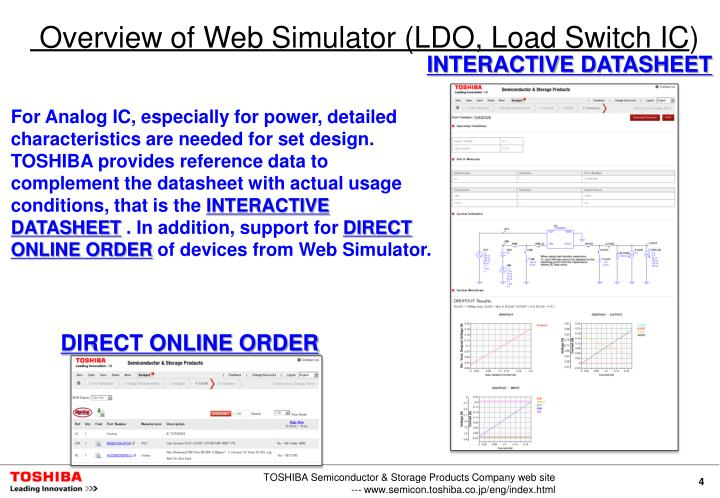 Overview of Web Simulator (LDO, Load Switch IC)