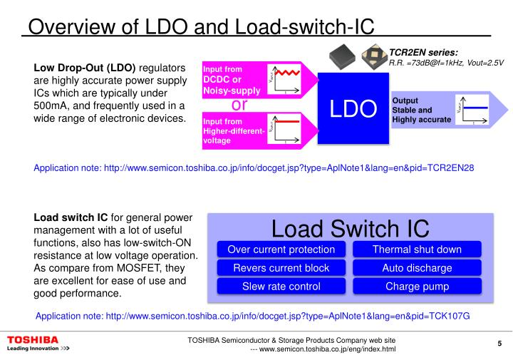 Overview of LDO and Load-switch-IC