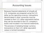 accounting issues1