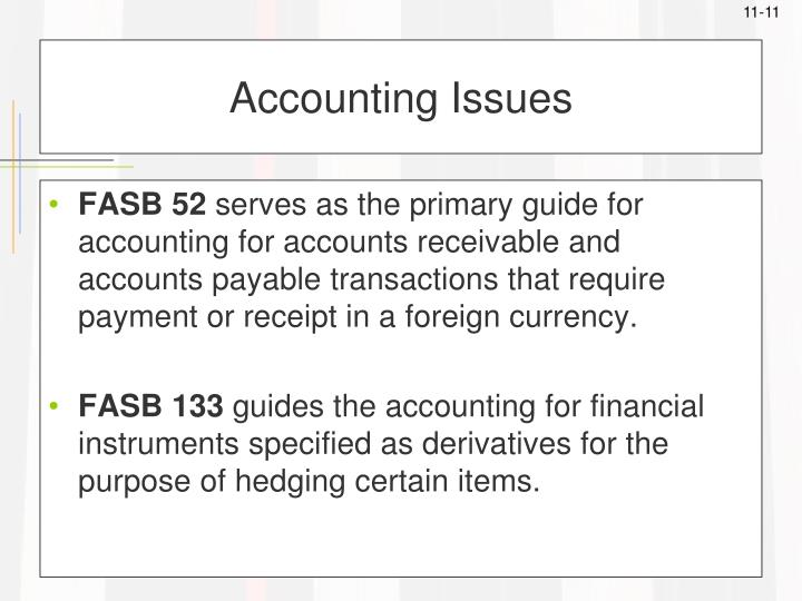 Accounting Issues