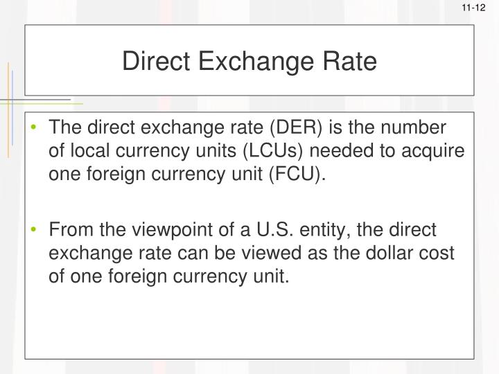 Direct Exchange Rate