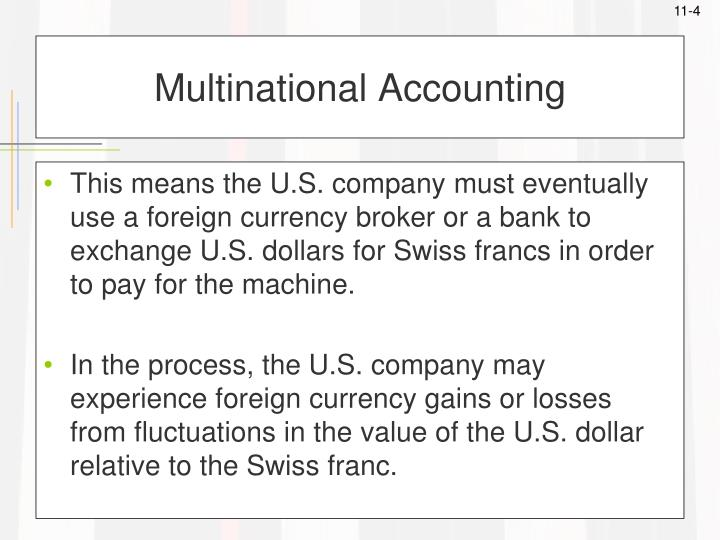 Multinational Accounting