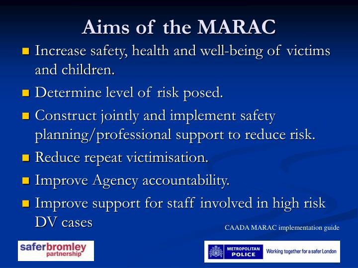 Aims of the MARAC