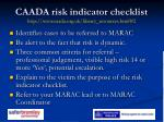 caada risk indicator checklist http www caada org uk library resources html 2