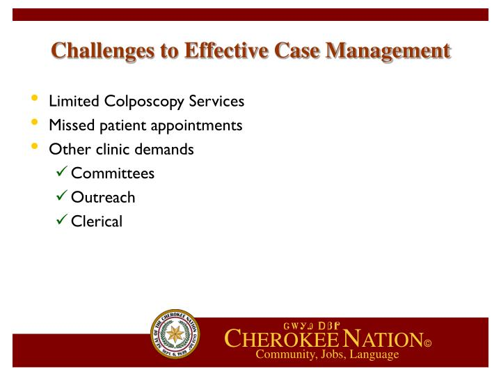 Challenges to Effective Case Management