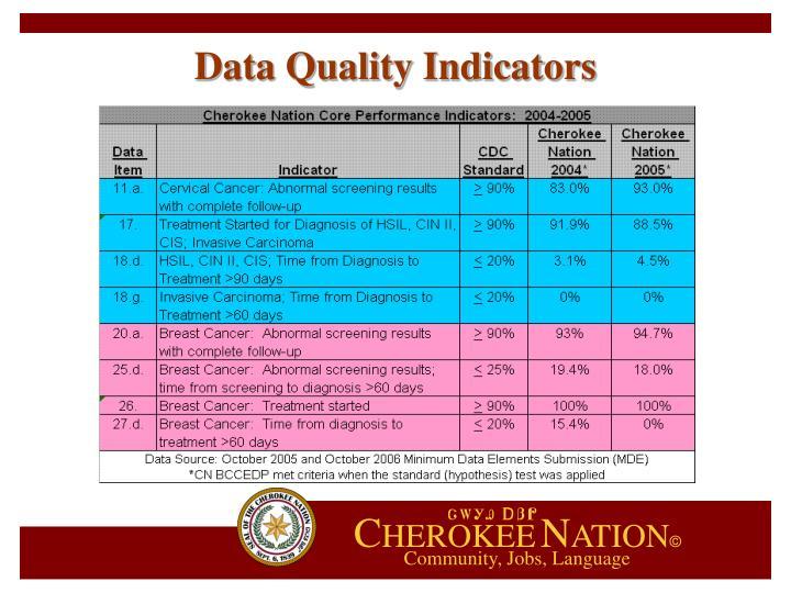 Data Quality Indicators