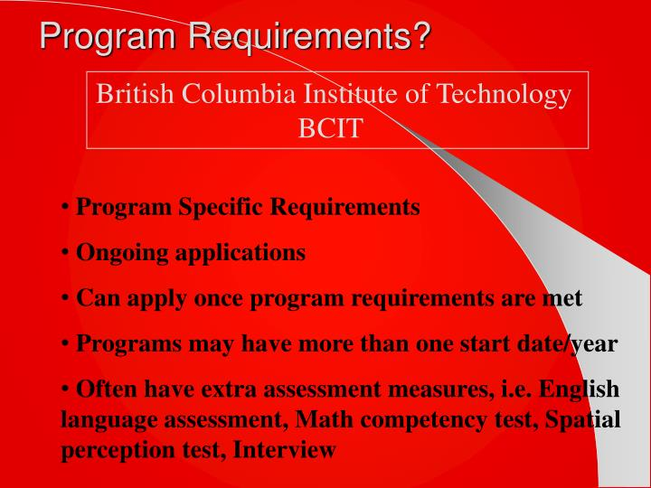 Program Requirements?