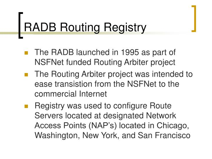 RADB Routing Registry