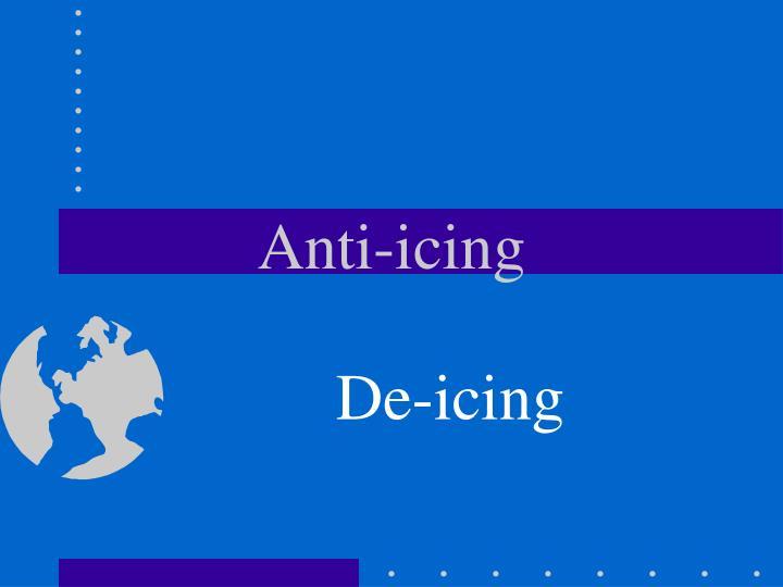 Anti-icing