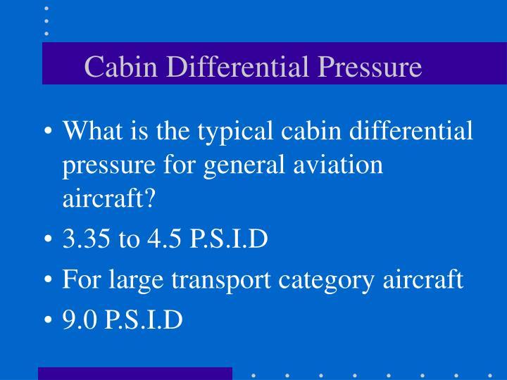 Cabin Differential Pressure