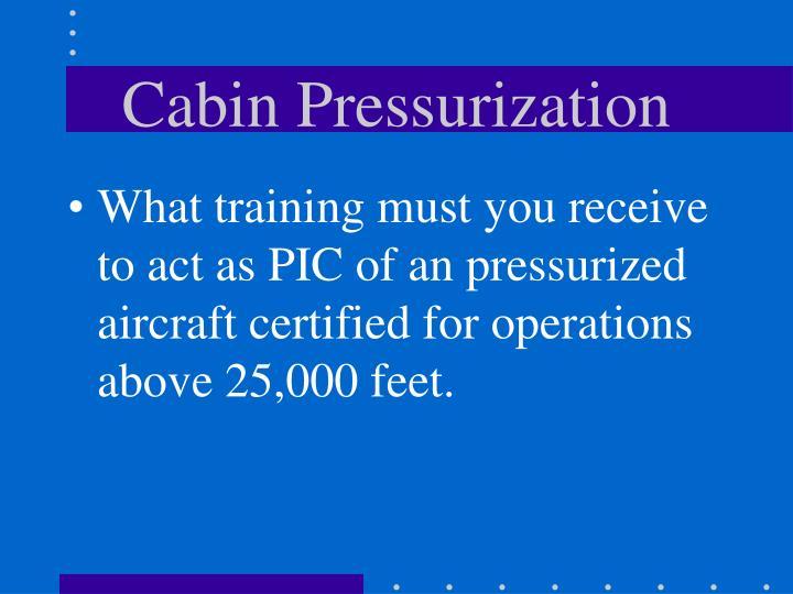 Cabin Pressurization